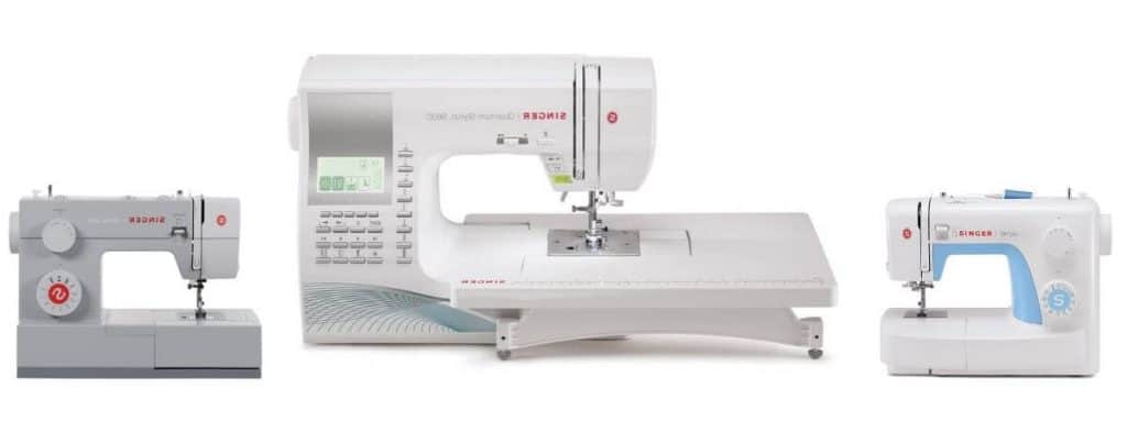 Self threading sewing machine